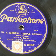"""78rpm 12"""" EDITH LORAND ORCH ketelby chinese temple garden / sanctuary of heart"""