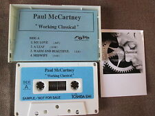 Promo-only! PAUL McCARTNEY Working Classical JAPAN ADVANCED CASSETTE w/Photo NM!