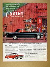 1961 Bob Peak barn antique sale illustration art Mercury Comet vintage print Ad