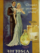 Spanish PERFUME Advertising 4700 LECION TOSCA 1936 ROSALINDA Print Ad Matted