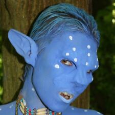 Blue Feline Avatar Ear prosthetics (Large). LRP, LARP, Cosplay