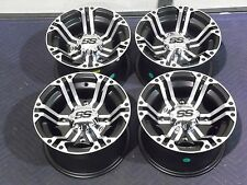 "12"" ITP SS212 MACHINED ATV WHEELS COMPLETE SET 4 LIFETIME WARRANTY POL3CA"