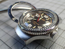 BOCTOK VOSTOK ST.STEEL THE.COIN.100.ONE CUSTOM SHARK TEATHS BEZEL DW-02-P