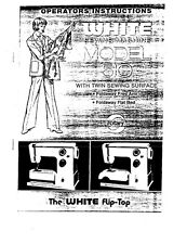 White W510 Sewing Machine/Embroidery/Serger Owners Manual