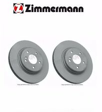 Mercedes R171 W203 CLK500 Set of Rear Disc Brake Rotors Zimmermann