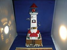 Mr Christmas Chicago Lighthouse Moving Birds & Light & Sounds Boxed