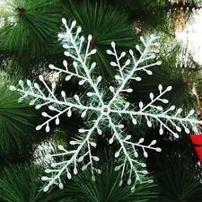 300psc Chrismas Xmas Snowflake Tree Hanging Ornament Home Festival Holiday Party