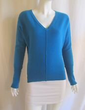 MICHAEL STARS Blue Batwing Long Sleeve V-Neck Dolman Sweater Top Sz 1 Small