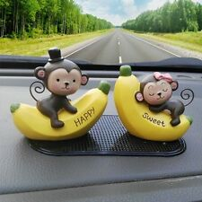 2016 New Fashion Car Decoration Cute Doll Interior Accessories 2 Pieces Monkey