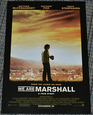 WE ARE MARSHALL 2006 ORIGINAL 11x17 MOVIE POSTER! MATTHEW McCONAUGHEY & FOOTBALL