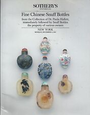 SOTHEBY'S FINE CHINESE SNUFF BOTTLES Hallett Collection Auction Catalog 1985