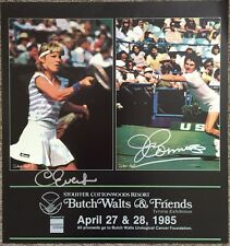 CHRIS EVERT  AND   JIMMY CONNORS      VINGAGE POSTER    HAND SIGNED