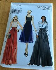 Vogue Pattern 8955 Misses Wide-Leg Pleated Pants Sz 6-14