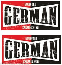 2x German Pegatina Sticker rythm retro Hot Rod rockabilly us cars v8 Biker