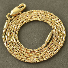 "18"" Vintage Womens 14K Gold Filled Twisted Rope Long Chain Necklace"
