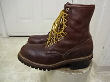 VINTAGE RED WING STEEL TOE LOGGER BOOTS 11.5 B MADE IN USA PT83 INSULATED GOOD