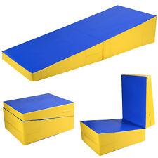 Folding Incline Mat Slope Cheese Gymnastics Gym Exercise Aerobics Tumbling Wedge