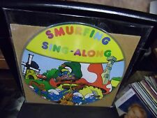 Smurfing Sing Along The Smufts picture disc LP 1982 VG