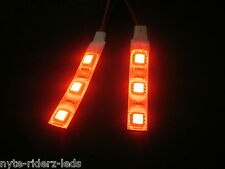 RED 5050 SMD LED 2 STRIPS 3 LED EACH  FITS  ALL  MOTORCYCLES TOTAL 6 LEDS