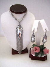 "Brighton ""ALICE"" Tassel Convertible Necklace-Earring Set (MSR$166) NWT/Pouch"
