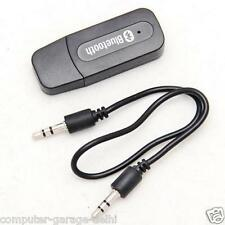 USB BLUETOOTH AUDIO RECEIVER 3.5mm MUSIC ADAPTER DONGLE SPEAKERS CAR MP3