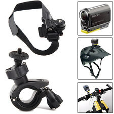 Bike Bicycle Helmet Mount Holder Kit for Sony Action Cam HDR-AS20 AS30V AS15 AZ1