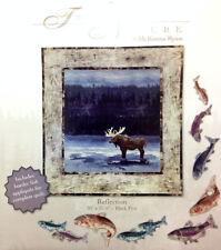 TRUE NATURE # 5 - REFLECTION Art Quilt Pattern by McKenna Ryan moose wildlife