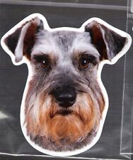 Miniature Schnauzer 4 inch face magnet for car or anything metal New