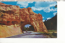 Red Canyon  Bryce Canyon Highway tunnel  Utah    Chrome Postcard 2257