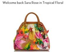 ❤️BRAHMIN SARA ROSE TROPICAL FLORAL SATCHEL COLLECTORS ITEM FLOWER NWT~ LOUISE❤️