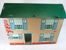 Vintage 1940's two 2 story cardboard dollhouse (missing parts)
