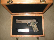 NEW CUSTOM  WOOD PISTOL GUN CASE  COLT, SMITH, RUGER BERETTA , MOST OTHERS
