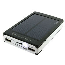 Portable 2-USB 100000mAh fg Dual Solar Battery Charger Power Bank For CellPhone