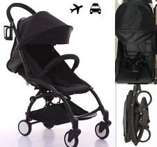 All Black Compact Travel Stroller Pram Carry On Plane Yoyo Foldable Baby Jogger