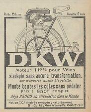 Z9823 DKW Moteur pour Vélos -  Pubblicità d'epoca - 1923 Old advertising