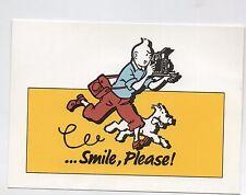 Carte Postale Tintin ...Smile, Please ! carte publicitaire campagne KODAK 1992