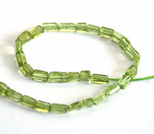HALF STRAND NATURAL PERIDOT FLAT RECTANGLE BEADS, 5 MM, GEMSTONE