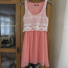 BSK.Bershka Peach/cream dress size S Excellent