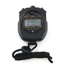 Waterproof Shock Resist 1 row 2 memory display Stopwatch Sports Timer Durable