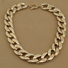 "Fashion Gold Tone Jewelry Big Plastic Chains Cool 18""Necklace EXS"