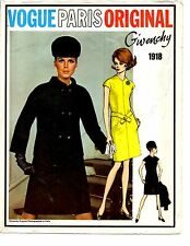 VOGUE Givenchy Dress & Jacket PARIS ORIGINAL PATTERN 1918 size 12