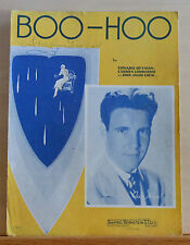 Boo - Hoo  - 1937 sheet music - Ozzie Nelson photo cover