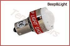 12V Car Beep&Light LED SMD Reversing Back Up Alarm Warning Alert Bulb P21W BA15S