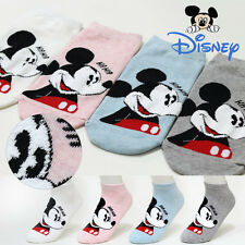 4 Pairs Women Girls Big Kids Disney Character Socks Mickey Mouse Cartoon Socks