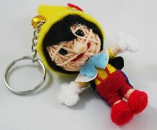 Pinocchio Voodoo Puppet Keychain KeyRing Doll Toy Bag Decor Handmade Craft Novel
