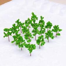 50pcs Model Tree Train Railway Street Park Farm House Layout 1:350 - 1:400 Scale