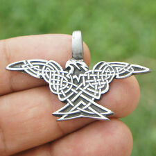 Magic Celtic knot flying bird Eagle Norse Viking Odin Medieval Pewter Pendant
