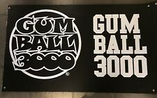 GUMBALL 3000 ORIGINAL SINAGE LOGO BANNER FROM RALLY 99cm x 157 cm EUROPE POSTAGE