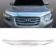 Chrome Bonnet Guard Bug Shield Molding Garnish Cover for HYUNDAI 06-12 Santa Fe