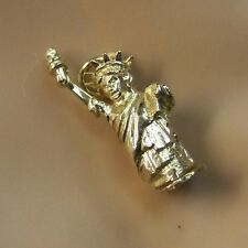 9ct gold new  moveable statue of liberty charm